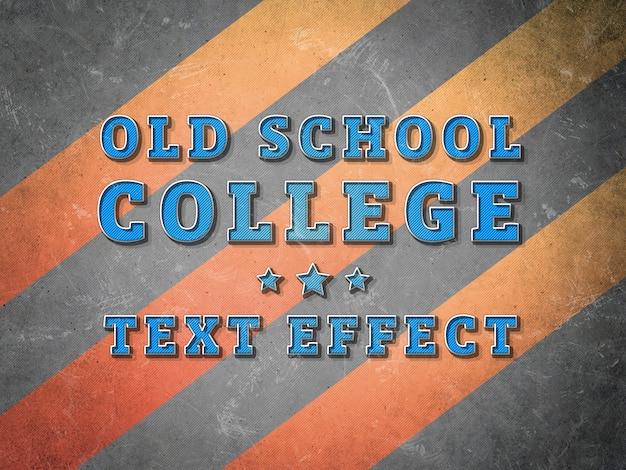 Текстовый эффект колледжа