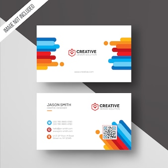 Color business card template