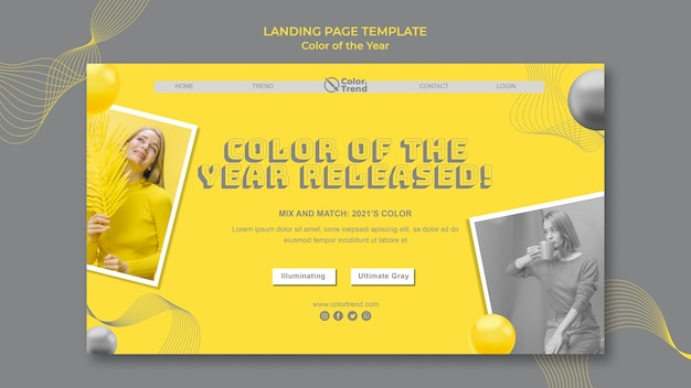 Цвет целевой страницы года