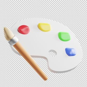Цветовая палитра живопись 3d иллюстрация