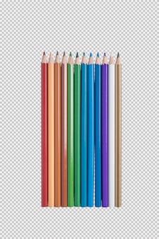 컬러 연필 흰색 배경에 고립