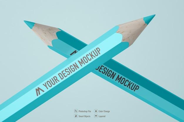 Цветной карандаш макет изолированный дизайн