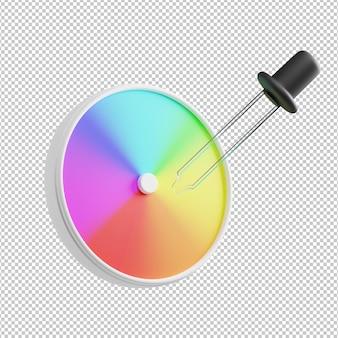 Палитра цветов 3d illustraton