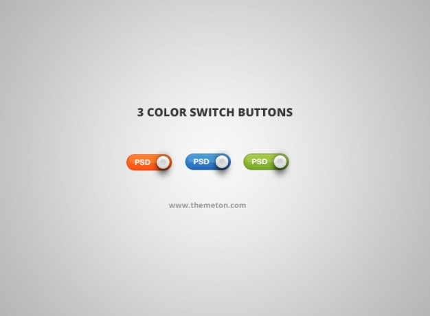 Color psd switch switch button