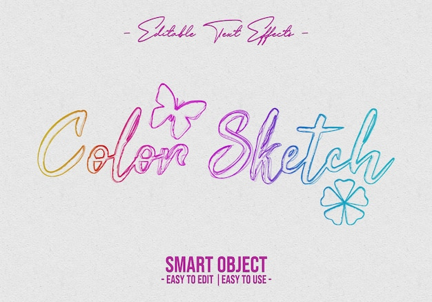 Color-sketch-text-style-effect