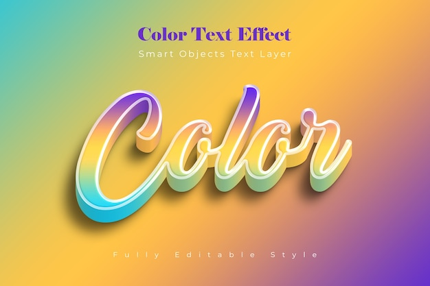 Color text effect template