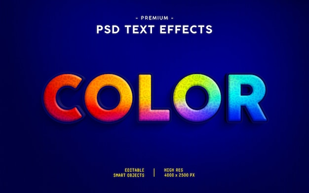 Color text effect