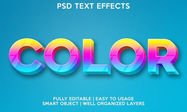 Color text effect