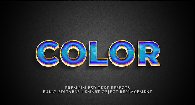 Color text style effect psd , psd text effects