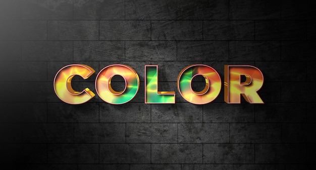 Color text style effect template