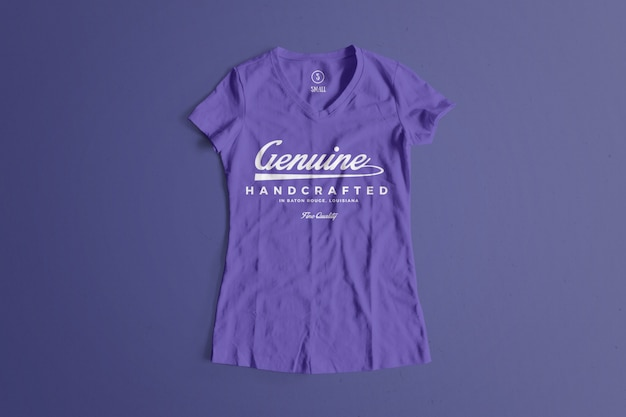 Color tshirt mockup