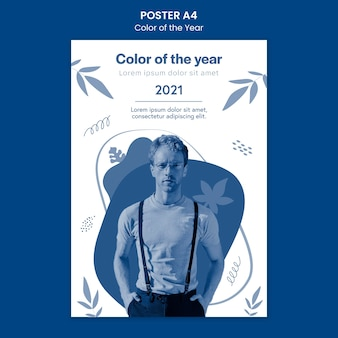 Color of the year poster template with photo