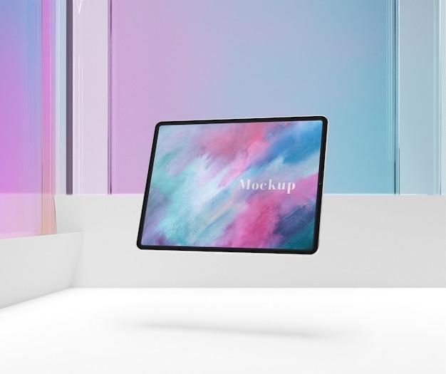 Цветной дисплей макета планшета