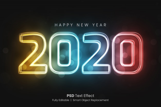 Colored glowing text effect