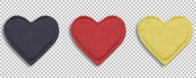 Цветные кухонные перчатки с сердечком, термозащита и безопасность, изолированные на прозрачности