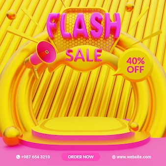 다채로운 3d 렌더링 할인 판매 연단