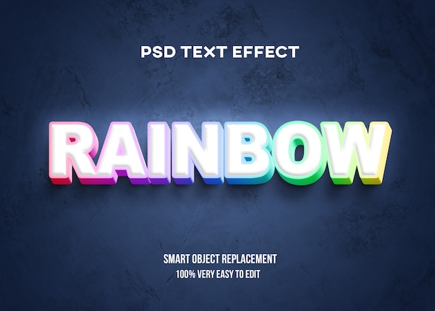 Colorful 3d text effect