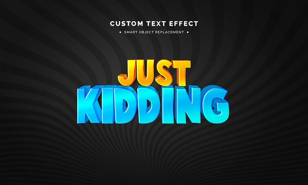 Colorful 3d text style effect