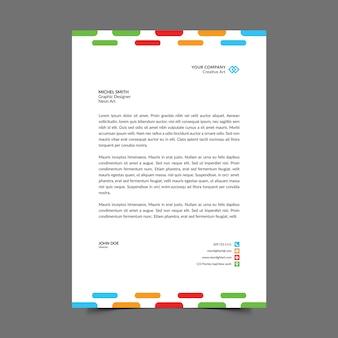 Colorful a4 letterhead