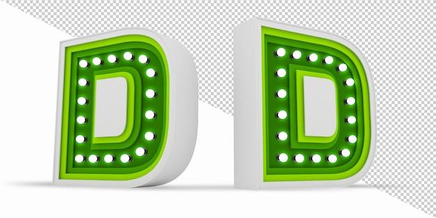 다채로운 알파벳 전구 광고 판