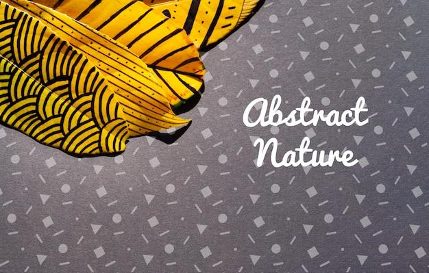 カラフルで芸術的な塗装の葉