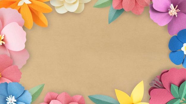 화려하고 열대 꽃 프레임 모형