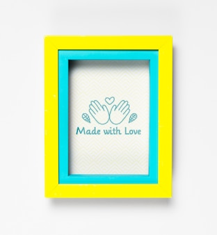 Colorful artistic frame with mock-up