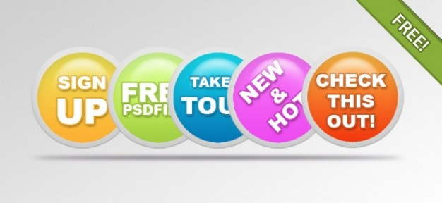 Colorful badges for websites