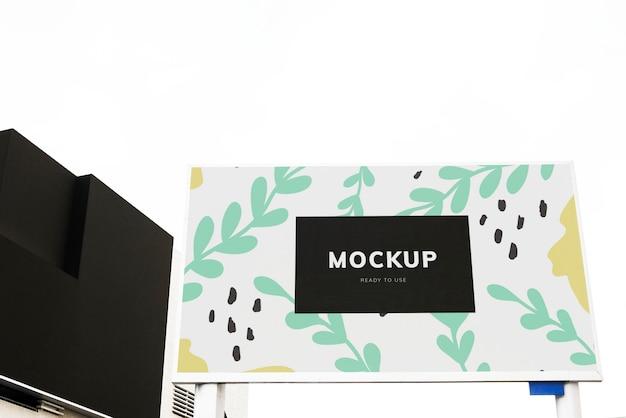 Colorful billboard mockup design