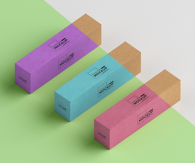 Colorful boxes arrangement