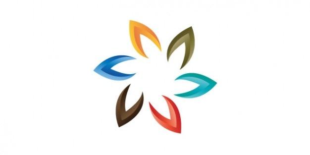 Colorful brand logo design