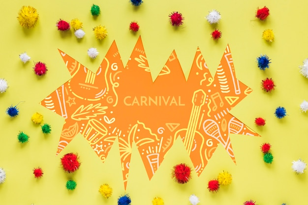 Разноцветные бразильские карнавальные помпоны
