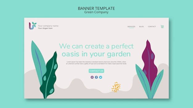 Colorful business banner template concept template