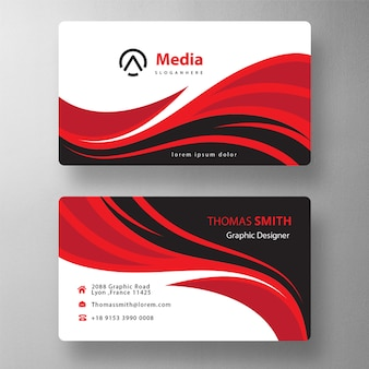 Colorful business card mock up