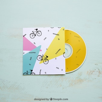 Colorful cd mockup