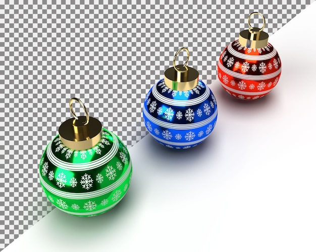 Colorful christmas balls set of isolated realistic decorations