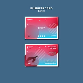 Colorful dance business card template