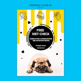 Colorful dog food square poster