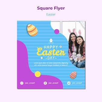 Colorful easter flyer template