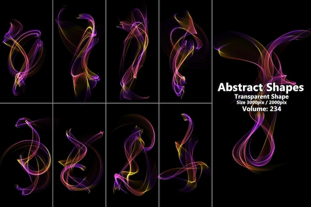 Colorful flames isolated
