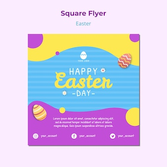 Colorful flyer template for easter
