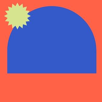 주황색과 파란색의 다채로운 프레임 psd