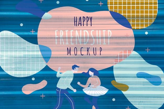 Colorful friendship day celebration background