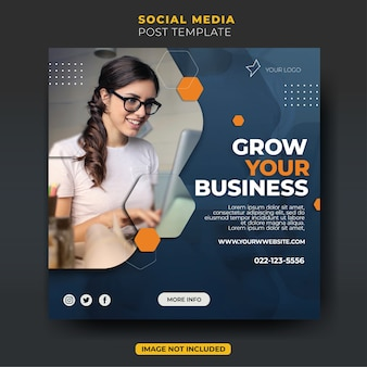 Colorful fun stylish working business creative agency instagram post feed template