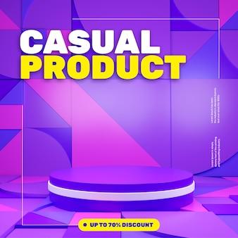 Colorful geometric pattern podium