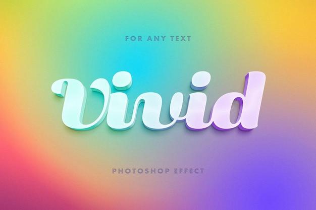 Colorful gradient 3d text effect