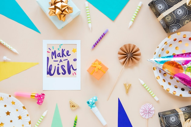Colorful happy birthday concept
