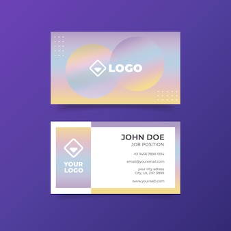 Colorful holographic business card