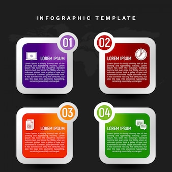 Colorful infographic template in banner style