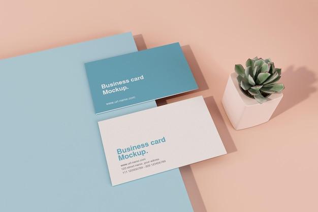 Красочный минимальный макет визитной карточки